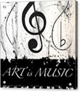 Art Is Music-music In Motion Acrylic Print