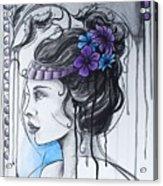 Art Nouveau Girl 1 Acrylic Print