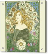 Art Nouveau Goddess Of Astrology Acrylic Print