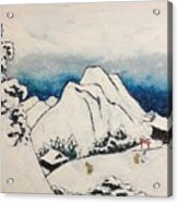 Art Of Japan And The Two Paths Of Shintoism And Buddhism - Holy Men In The Snow Without Abraham Acrylic Print