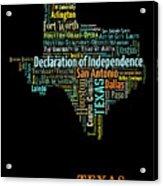 Art Print, Pop Art Texas Map, Modern Style Country Map, Country Maps For Home Decor, Pop Art Map Pri Acrylic Print