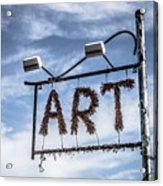 Art Sign Acrylic Print