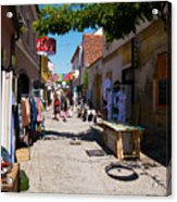 Art Street In Varazdin Acrylic Print