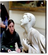 Art Students In The Louvre Acrylic Print