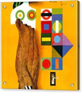 Art Today - London Underground, London Metro - Retro Travel Poster - Vintage Poster Acrylic Print