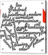 Art Word Cloud 1 Acrylic Print