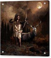 Artemis Goddess Of The Hunt Acrylic Print