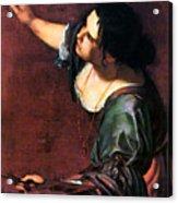 Artemisia Gentileschi Acrylic Print