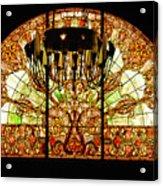 Artful Stained Glass Window Union Station Hotel Nashville Acrylic Print by Susanne Van Hulst