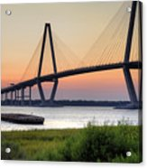 Arthur Ravenel Jr. Bridge Sunset Acrylic Print