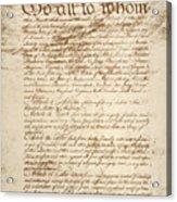 Articles Of Confederation Acrylic Print