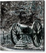 Artillery At Pickettes Charge Acrylic Print