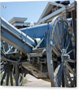 Artillery In Front Of The Armory Acrylic Print