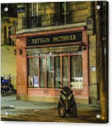 Artisan Patissier Montmartre Paris Acrylic Print