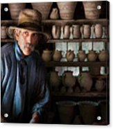 Artist - Potter - The Potter II Acrylic Print by Mike Savad