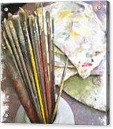 Artist Brushes  Acrylic Print