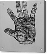 Artist  Hand Variation I Acrylic Print