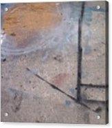 Artist Sidewalk 2 Acrylic Print
