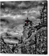 Artistic Bass Harbor Lighthouse In Acadia Acrylic Print