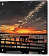 Artistic Black Sunset Acrylic Print