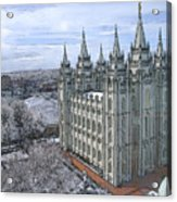 Artistic Rendering Of The Salt Lake City Lds Temple Acrylic Print