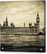 Artistic Vision Of Elizabeth Tower Big Ben And Westminster Acrylic Print
