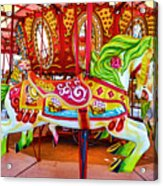 Artistically Textured Carousel Acrylic Print