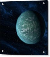 Artists Concept Of Kepler 22b, An Acrylic Print by Stocktrek Images