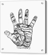 Artists Hand Variation I Acrylic Print