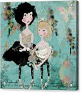 Artsy Girls Acrylic Print