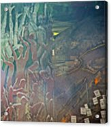 Artwork Representing The Disappeared Located Under A Bridge In Buenos Aires-argentina  Acrylic Print
