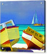 Aruba Boats Acrylic Print