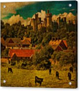 Arundel Castle With Cows Acrylic Print