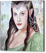 Arwen Acrylic Print by Mamie Greenfield