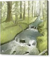 As I Sat By A Brook And Pondered Acrylic Print