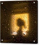 As Seen Through A Shower Door, A Girl Acrylic Print