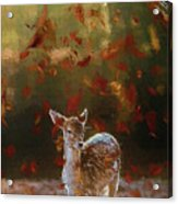 As The Leaves Fall - Painting Acrylic Print
