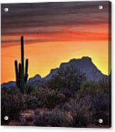 As The Sun Sets On Red Mountain  Acrylic Print