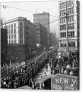 Asahel Curtis, 1874-1941, Draft Parade, Seattle Acrylic Print