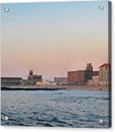 Asbury Park Boardwalk From The Beach Acrylic Print