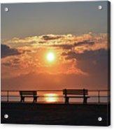Asbury Park Boardwalk Sunrise Acrylic Print