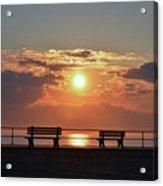 Asbury Park On The Boardwalk At Sunrise Acrylic Print