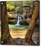 Hocking Hills Waterfall Acrylic Print