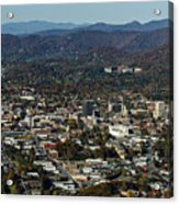 Asheville, City, Downtown, Nc, North Carolina, Mountains, Mountains, Real Estate, Blue Ridge Mountai Acrylic Print
