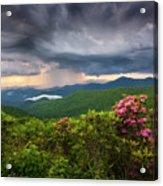 Asheville North Carolina Blue Ridge Parkway Thunderstorm Scenic Mountains Landscape Photography Acrylic Print