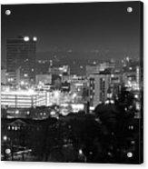 Asheville North Carolina Skyline Acrylic Print