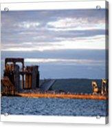 Ashland Ore Dock At Sunset Acrylic Print
