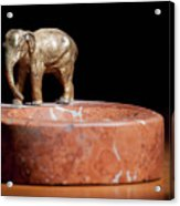 Ashtray With Elefant Acrylic Print