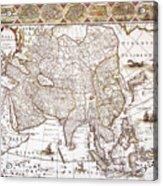 Asia: Map, C1618 Acrylic Print