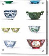 Asian Art Chinese Pottery - Bowls Acrylic Print